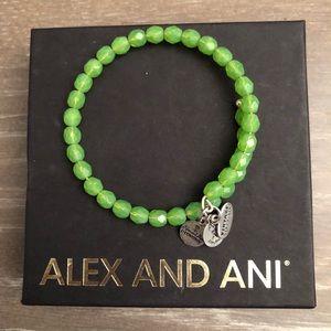 Alex & Ani - Green Beaded bangle